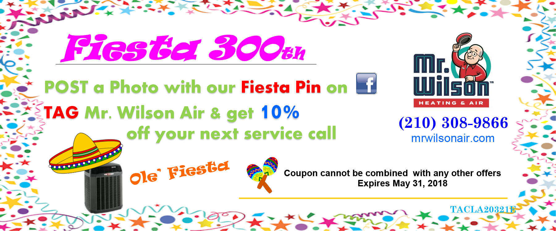 mr wilson air ac repair san antonio fiesta coupon