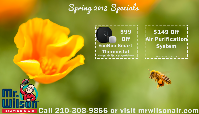 mr wilson air ac repair spring promotion 2018