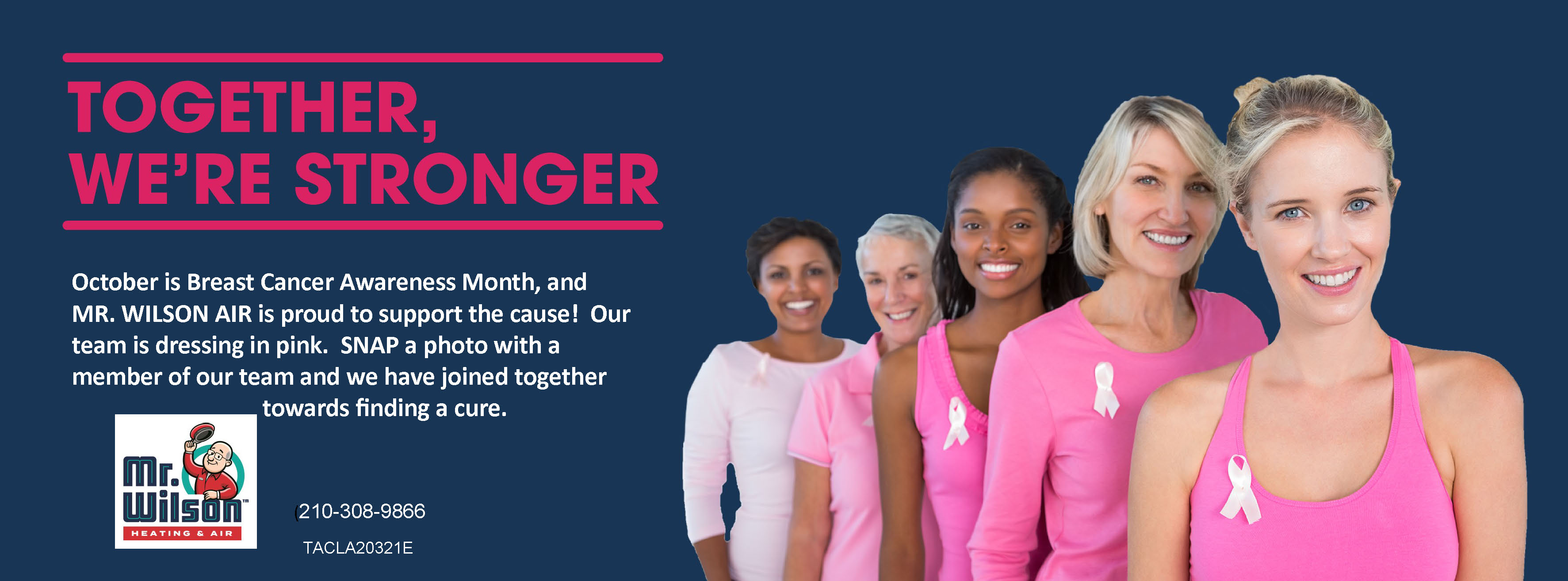 mr wilson heating and air conditioning breast cancer 2019
